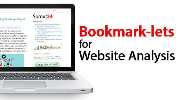 Bookmark-lets for Analysing any Website