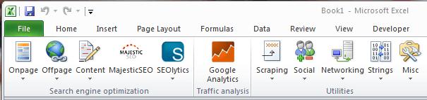 seo tools excel tools