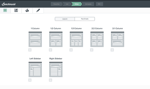 Benchmark email screenshot
