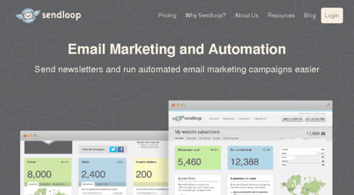 sendloop message home - email automation - easy to use