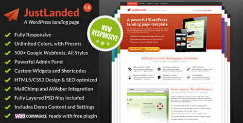 JustLanded - WordPress Landing Page - WordPress Landing Pages
