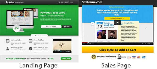 landing-page-vs-sales-page - WordPress Landing Pages