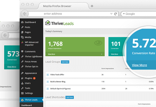 thrive-leads-landing-page - WordPress Landing Pages offers plenty of themes and plugins
