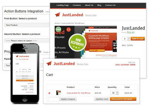 woocommerce-JustLanded support - WordPress Landing Pages create high converting landing pages across your site.