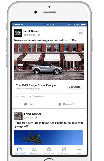 landrover-lead-ad - Facebook Lead Ads