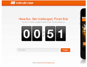 Minute Race Landing Page - Free Leadpages Alternative