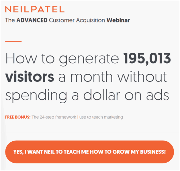 leadpages alternative -neil patel - software like Leadpages