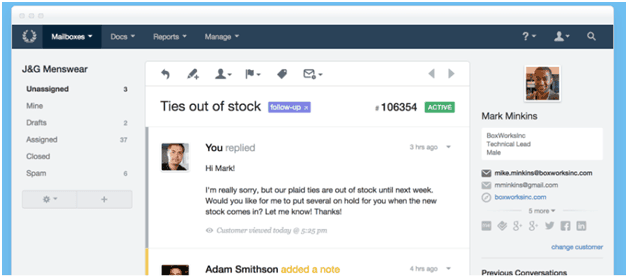 HelpScout Interface