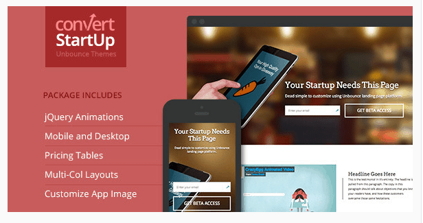 Startups - Multi-Purpose Unbounce Template