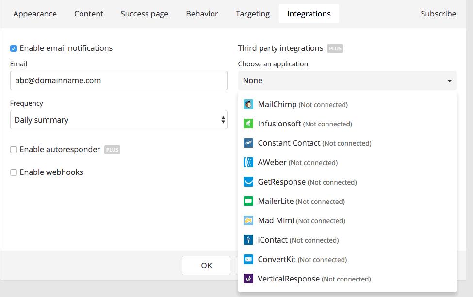 GetSiteControl: Integrations