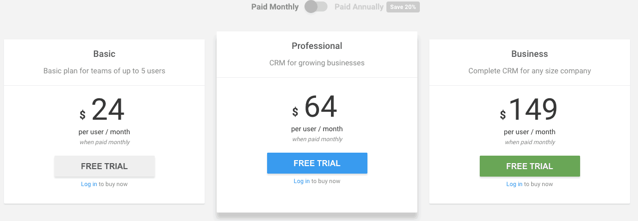 prosperworks-pricing