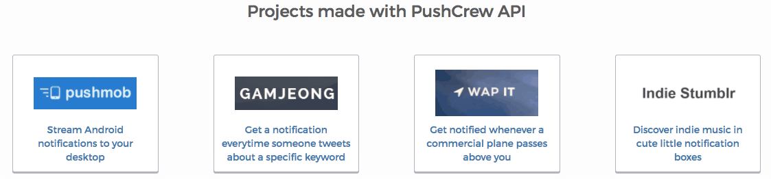 pushcrew-api-projects