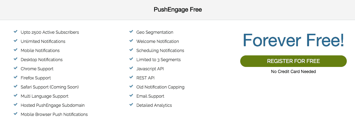 Pushcrew-alternatives-pushengage-free-plan