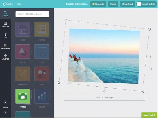 canva-feature-photostraight - Canva Alternatives