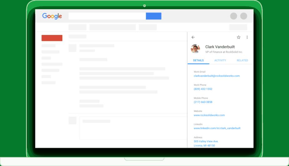 Google inbox extension prosperworks