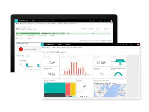 Microsoft Dynamics sales feature