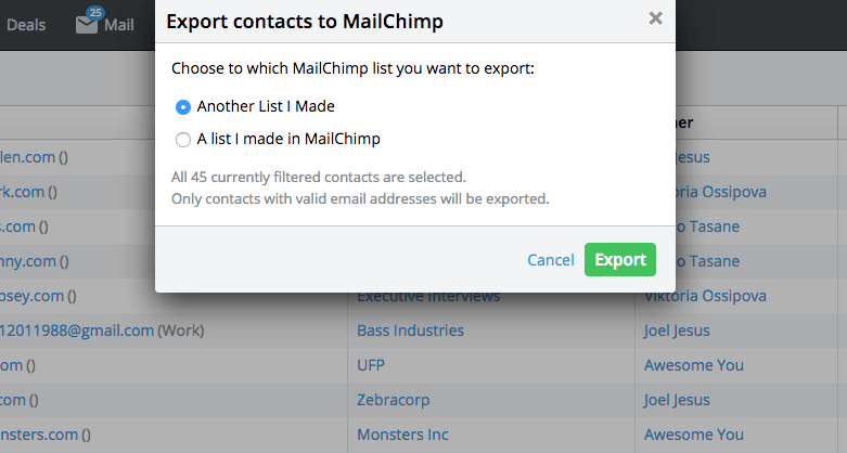 Pipedrive mailchimp - Software like Pipedrive