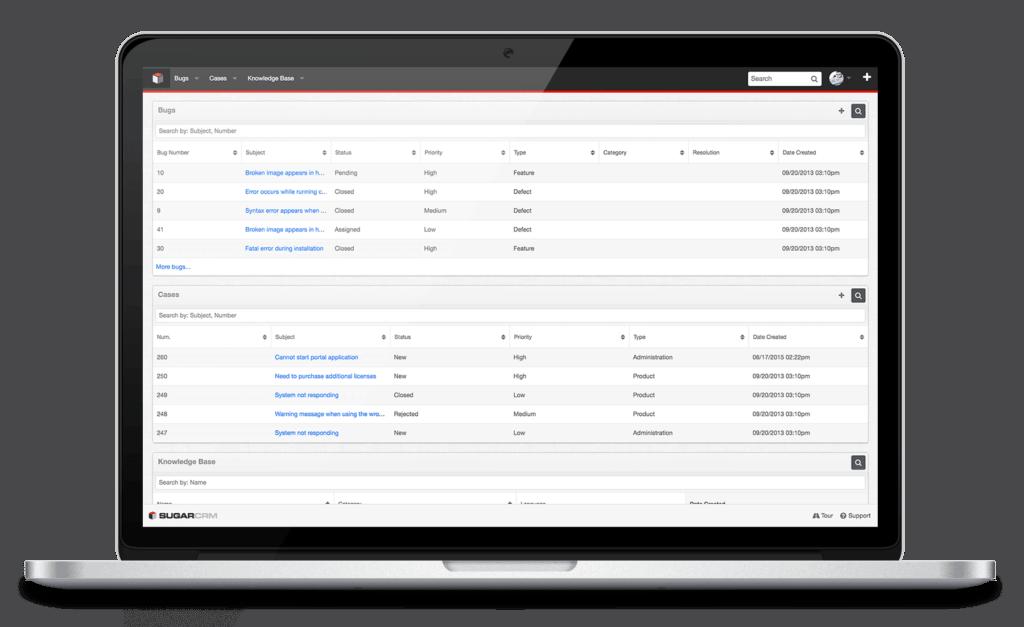 self service portal SUGARcrm - software like pipedrive