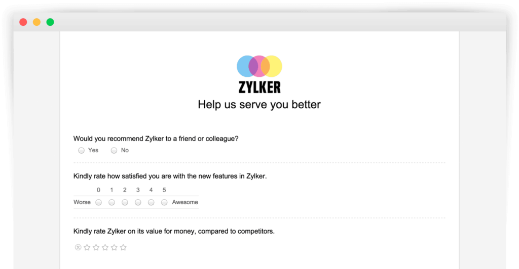 zoho surveys