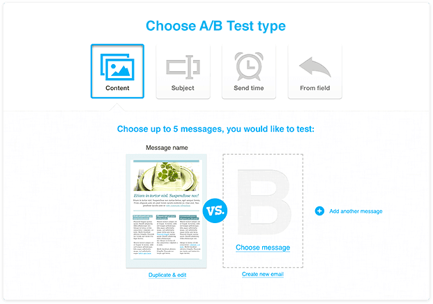 ab testing email GetResponse compared with MailChimp