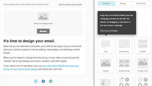 GetResponse vs MailChimp template editor