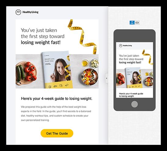 GetResponse Review of responsive design