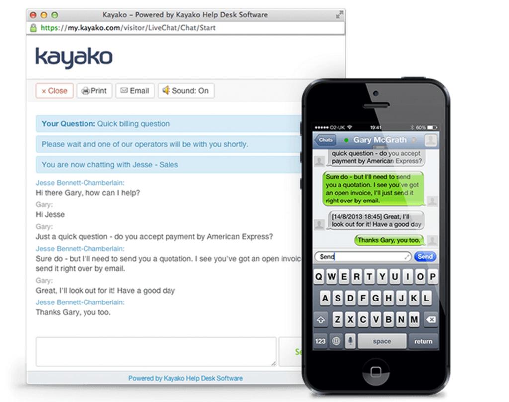 kayako live chat mobile