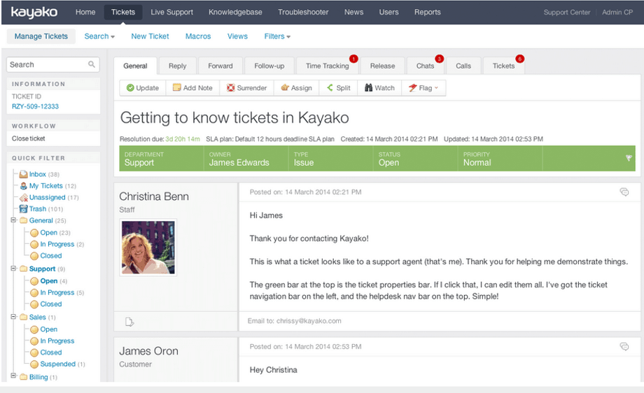 kayako ticket management