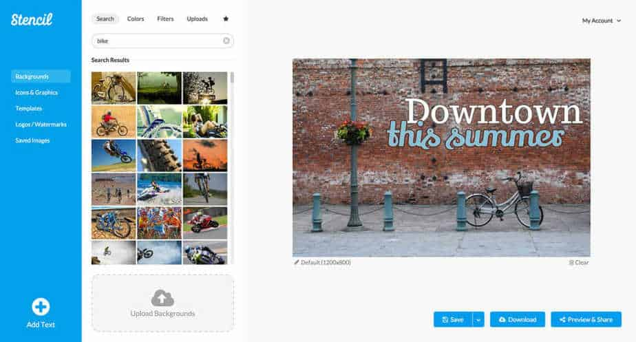 Social Media Graphics Design with Preview of Images