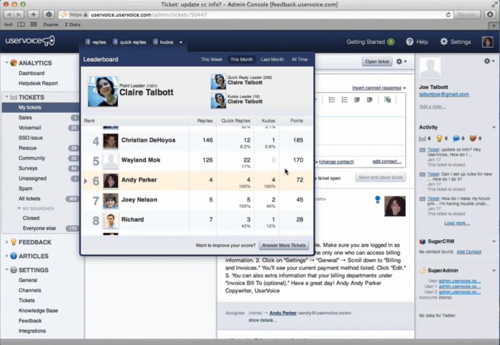 uservoice feedback