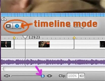 iMovie timeline-switch