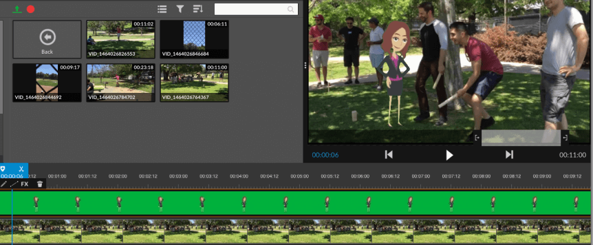 wevideo chroma key - similar to iMovie