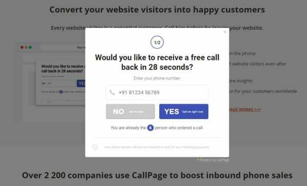 СallPage Review in 28 seconds