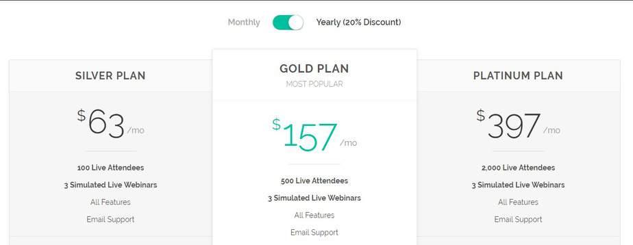 Jetwebinar pricing
