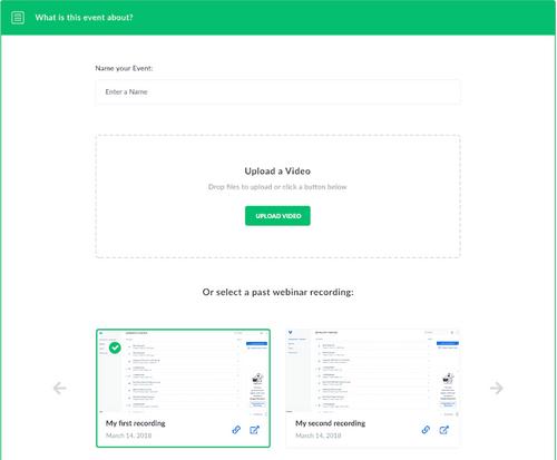 Automated webinar tools