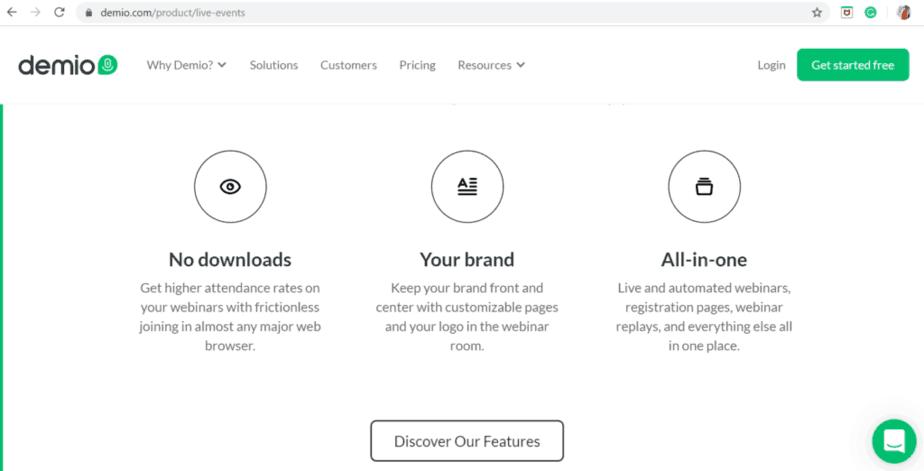 Demio webinar platform that help you organize live events