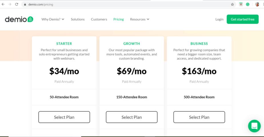 demio review - starter plan and browser based platform