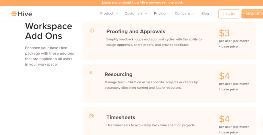 alternative to Basecamp - price for add-ons - manage clients - collaboration tools- track milestones