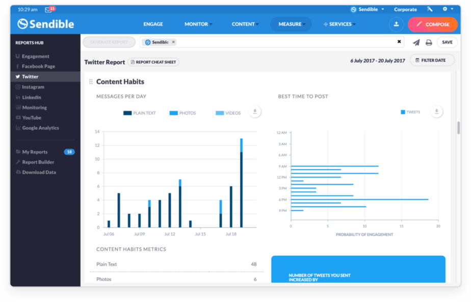 reviews sendible - a tool that helps manage social media accounts works well even for small business