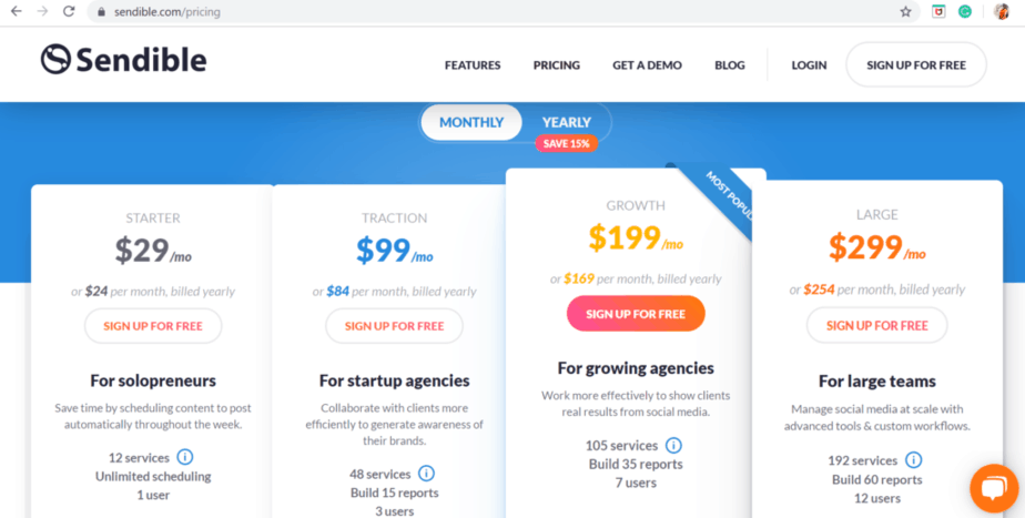sendible pricing review - a tool for social media managers to manage multiple social networks and multiple accounts