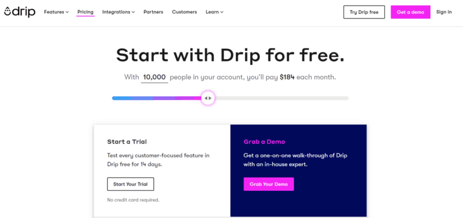 Drip pricing - email marketing campaigns - send series of emails - send automated emails to your email list - create email marketing campaign