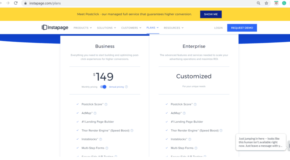 leadpages vs instapages