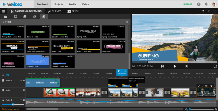 video editors for chromebook - wevideo - manage advanced projects - adobe premiere pro   - final cut pro - edit video clips  - much power
