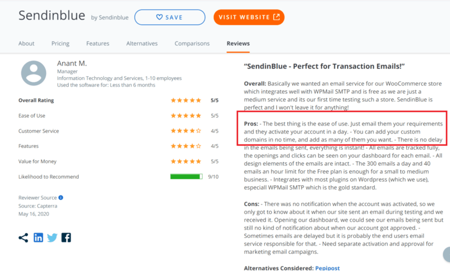 Sendinblue is well rounded and offers ease of use with best powerful automation -  Prevent hard bounces - check review