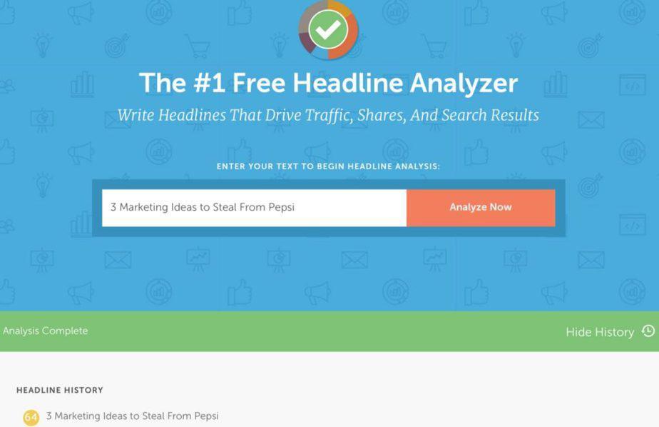 tools for content marketers - coschedule's headline analyzer