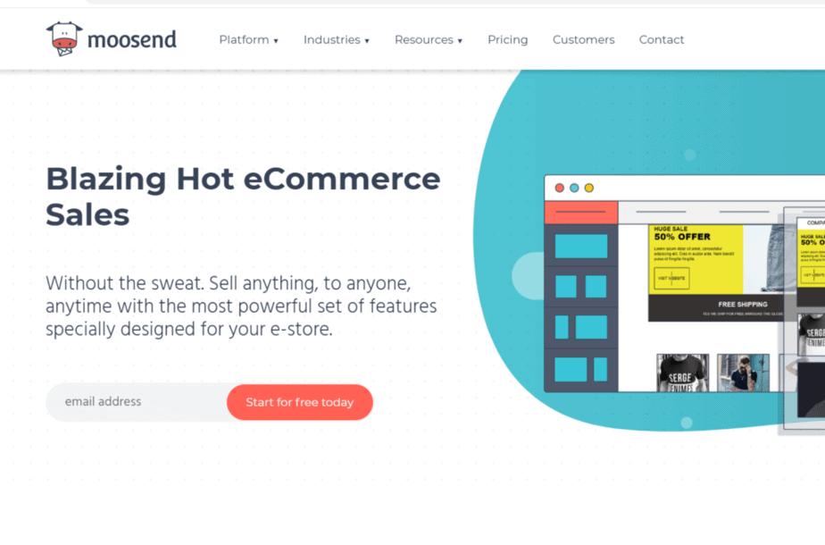 Moosend- ecommerce tools