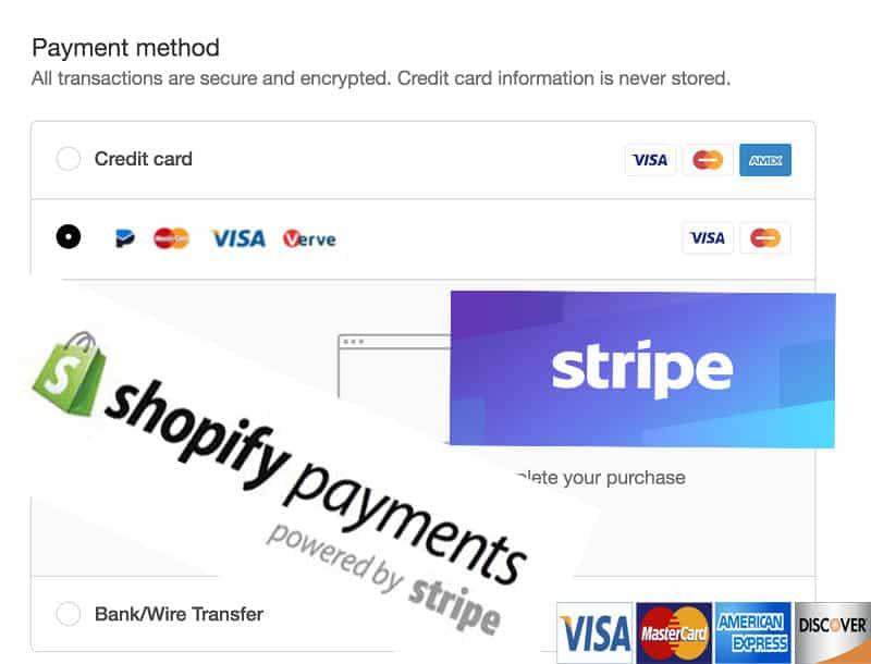 stripe alternatives - shopify payments