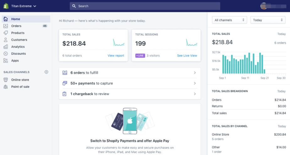 freelance management system - shopify