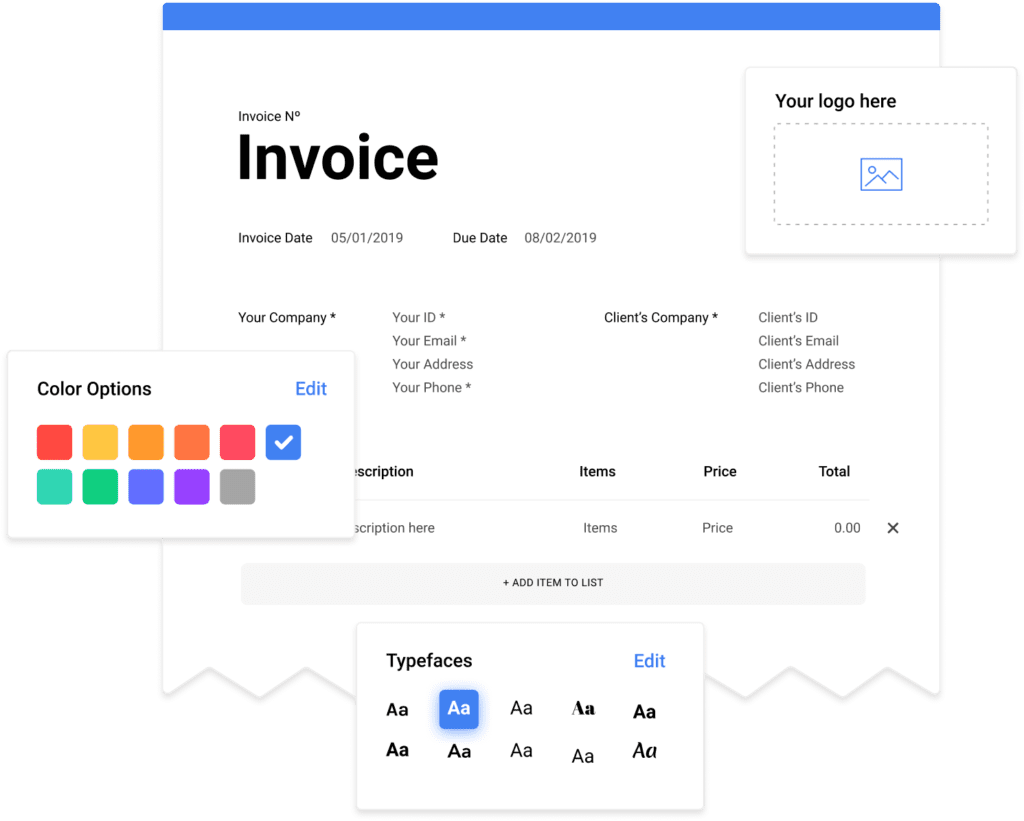 invoicing software dashboard - mobile apps - manage online payments and credit card - pay for your use - save money  - access inventory