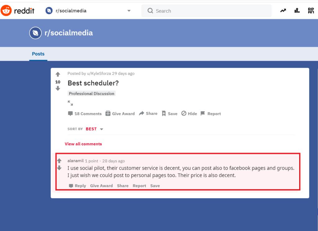 Socialpilot- calendar management tool